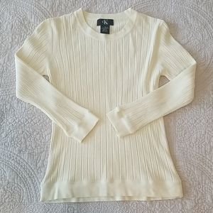 Calvin Klein ribbed knit sweater, sz S